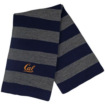UC Berkeley Cal Embroidered Rugby Scarf- Charcoal