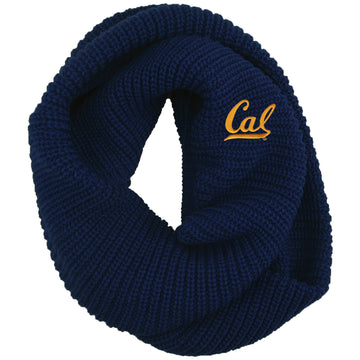 U.C. Berkeley Cal Bears embroidered infinity scarf-Navy