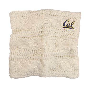 U.C. Berkeley Cal embroidered Alpine Women's scarf-Cream
