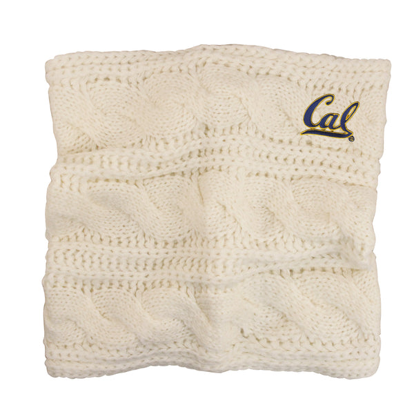 U.C. Berkeley Cal embroidered Alpine Women's scarf-Cream-Shop College Wear