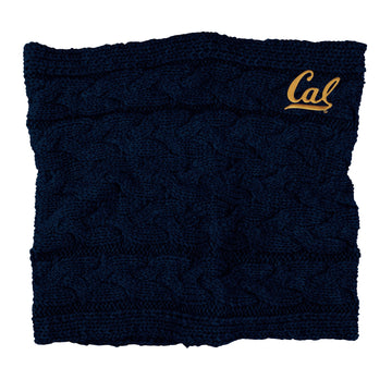 U.C. Berkeley Cal embroidered women's Cowl Neck scarf-Navy