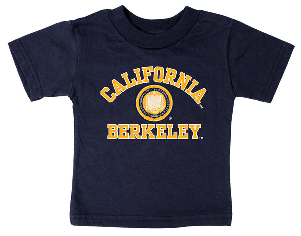 UC Berkeley Cal Multi Color Seal Toddler T- shirt-Navy-Shop College Wear