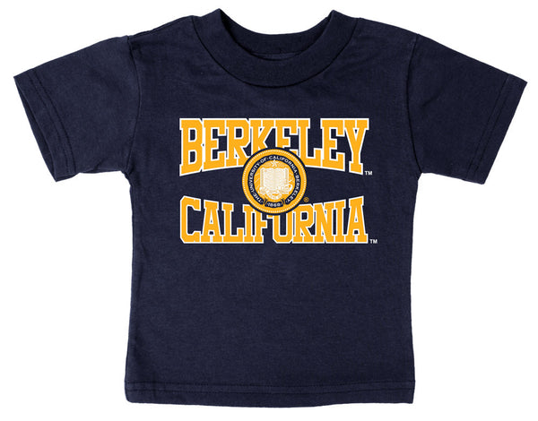 UC Berkeley Multi Color Seal Imposed Toddler T-Shirt - Navy-Shop College Wear