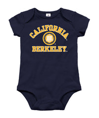UC Berkeley Cal Multi Color Seal Infant Onesie - Navy-Shop College Wear