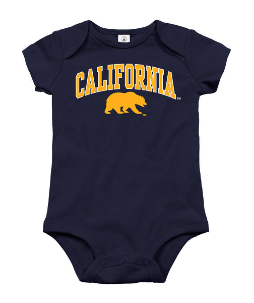 Uc Berkeley California Arch onesie-Navy-Shop College Wear