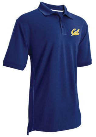 University Of California Berkeley Cal Embroidered Russell Athletic Performance Polo- Navy-Shop College Wear