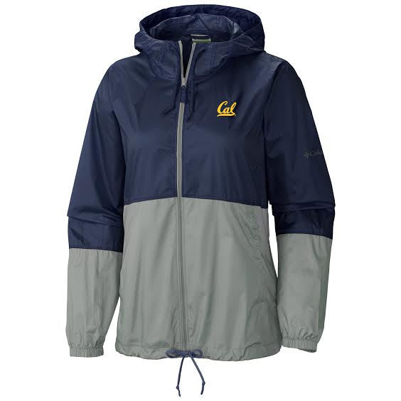 UC Berkeley Cal Columbia Flash Forward Windbreaker- Navy-Shop College Wear