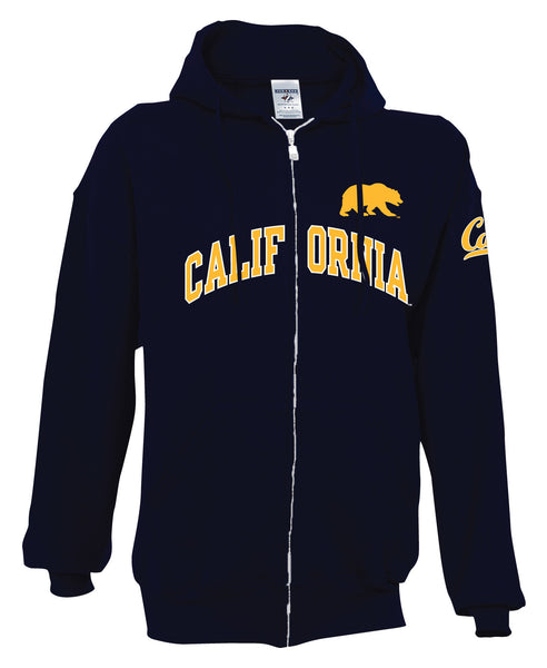 UC Berkeley Cal Men's Zip Up Hoodie Sweatshirt - Navy-Shop College Wear