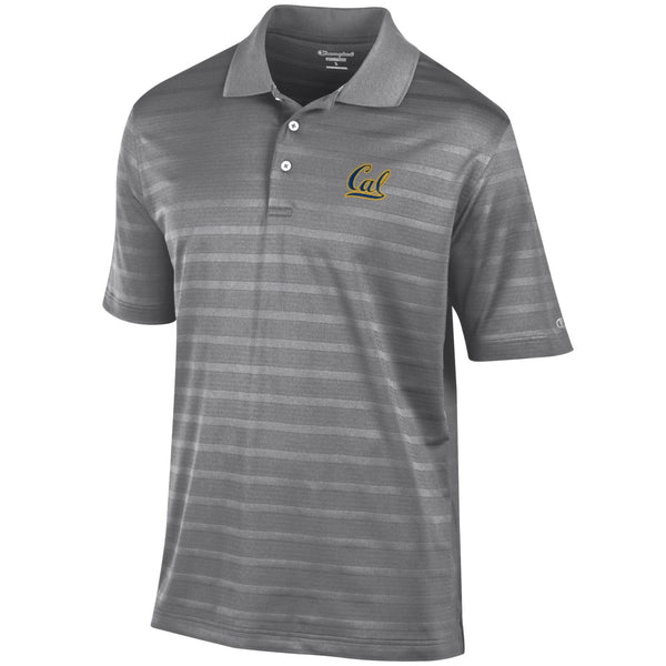 UC Berkeley Cal Embroidered Champion Polo-Charcoal-Shop College Wear