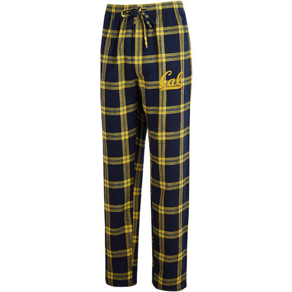 UC Berkeley Cal Embroidered Unisex Flannel Pants-Shop College Wear