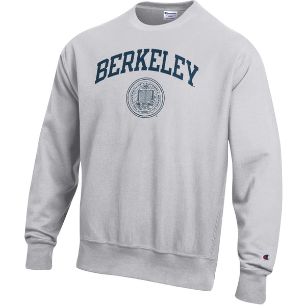 UC Berkeley Arch & Seal Champion Reverse Weave Sweatshirt-Gray-Shop College Wear