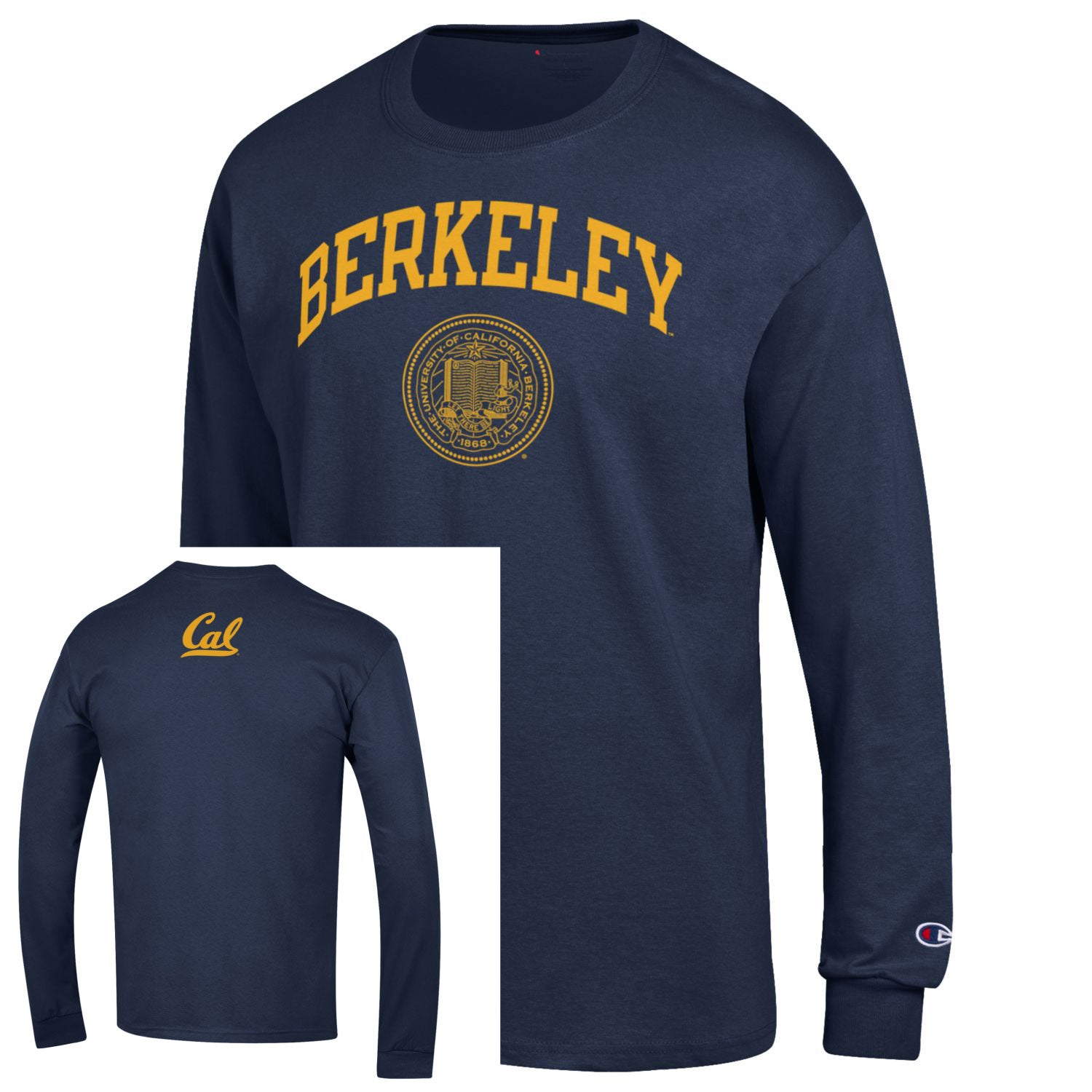 9c26a9647515 UC Berkeley Cal Champion Men's Long Sleeve T-Shirt - Navy – Shop ...