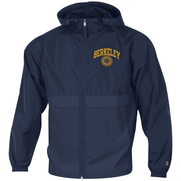 UC Berkeley Cal Champion Men's Zip-Up Windbreaker-Navy-Shop College Wear