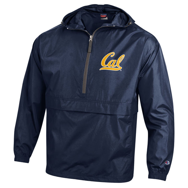 UC Berkeley Cal Men's Champion Pack N Go Jacket-Navy-Shop College Wear