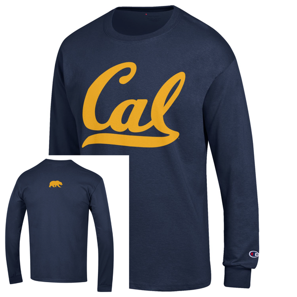 UC Berkeley Cal Champion Men's Long Sleeve T-Shirt - Navy-Shop College Wear