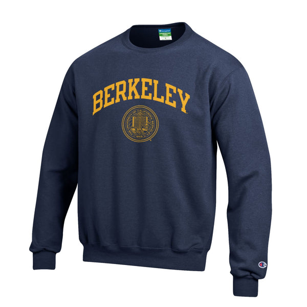 b1e85c0317960f UC Berkeley Cal Champion Youth Crew Neck Sweatshirt-Navy-Shop College Wear