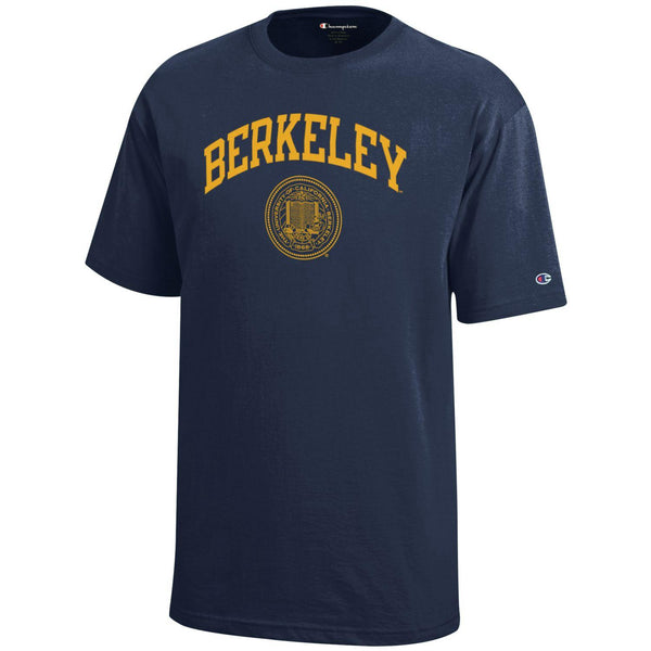 UC Berkeley Champion Youth Arch & Seal T-Shirt - Navy-Shop College Wear