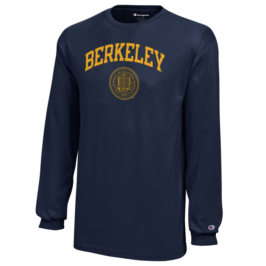 UC Berkeley Cal Champion Youth Long Sleeve T-Shirt-Navy-Shop College Wear