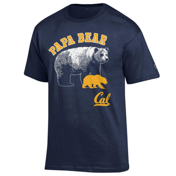UC Berkeley Men's Papa Bear Champion T-Shirt - Navy