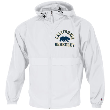 UC Berkeley Cal Champion Men's Windbreaker Jacket-White