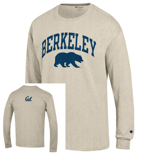 UC Berkeley Cal Men's Champion Long Sleeve T-Shirt-Oatmeal-Shop College Wear