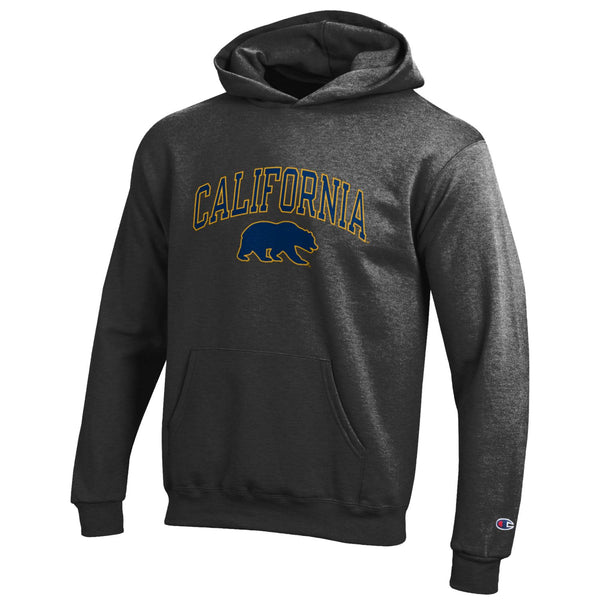 UC Berkeley Golden Bears Youth Hoodie Sweatshirt- Charcoal-Shop College Wear