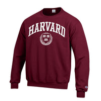 Harvard Crimson Men's Champion Crew-Neck Sweatshirt-Shop College Wear