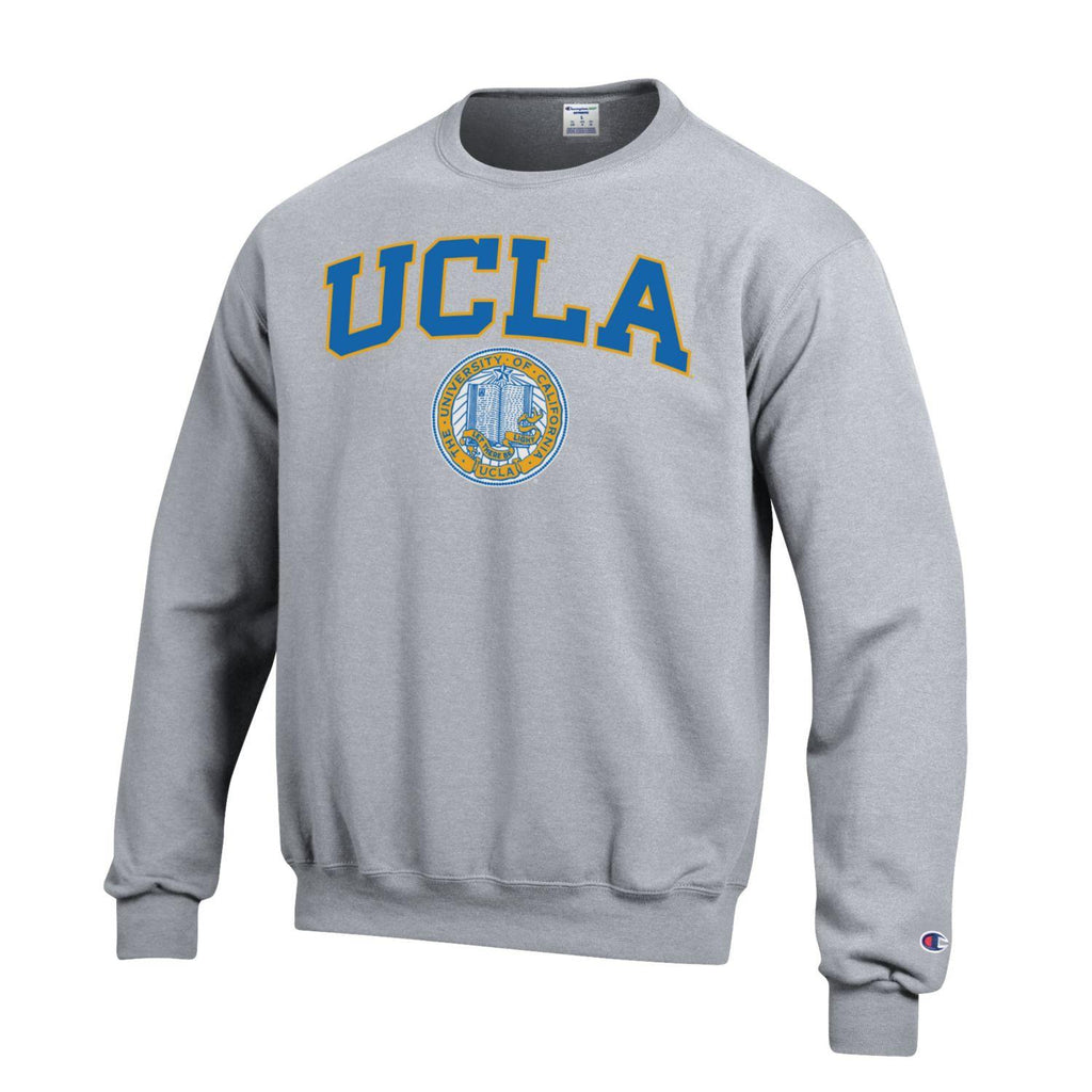 UCLA Block & Seal Champion Men's Sweatshirt-Gray-Shop College Wear