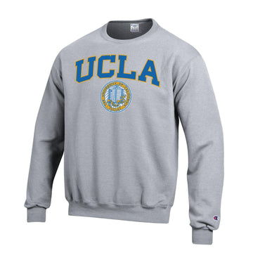 UCLA Block & Seal Champion Men's Sweatshirt-Gray