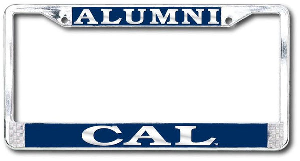 UC Berkeley Cal Alumni Polished Chrome License Plate Frame- Silver-Shop College Wear