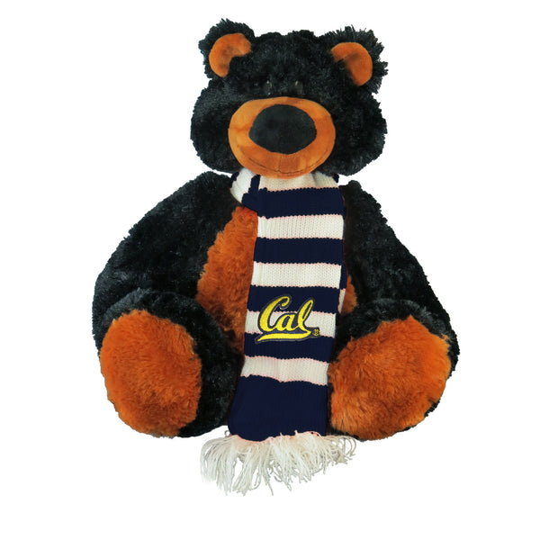 "U.C. Berkeley Cal 11"" ziggy plush bear with scarf-Black-Shop College Wear"