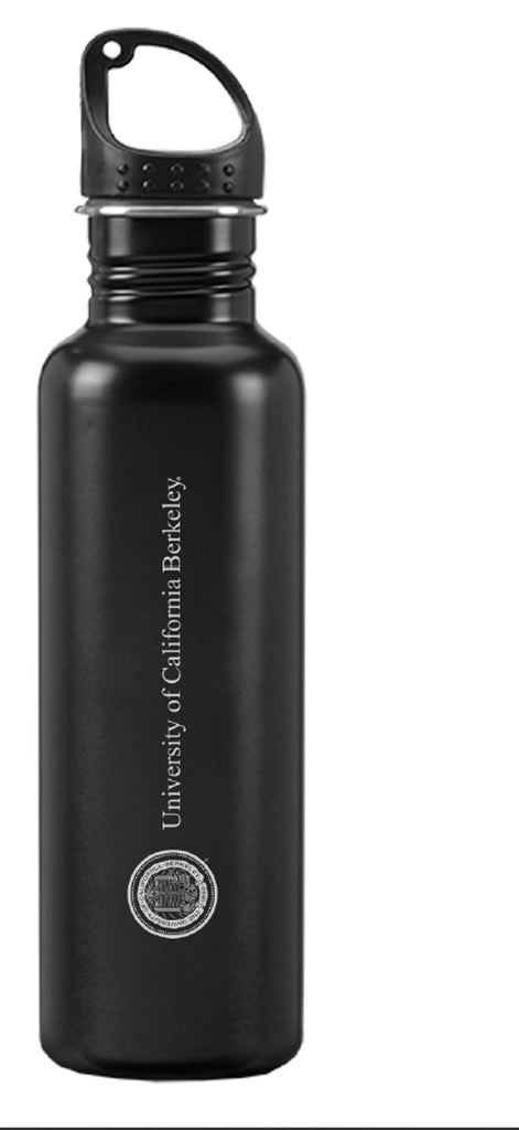 University Of California Berkeley Cal Laser Engraved Stainless Steel 24 Oz. Water Bottle-Black-Shop College Wear