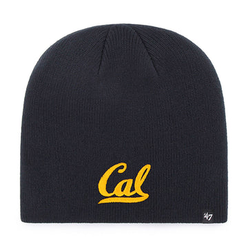 U.C. Berkeley Cal Bears embroidered knit beanie hat-Navy