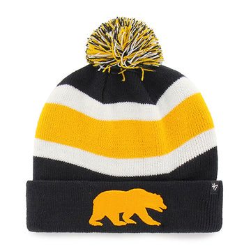U.C. Berkeley Cal Bears Stripe Knit hat beanie and Bear-Navy