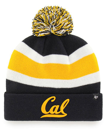 U.C. Berkeley Cal embroidered Cuffed beanie hat-Navy