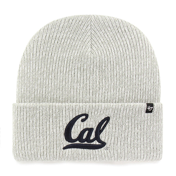 U.C. Berkeley Cal Bears embroidered cuff knit beanie hat-Gray-Shop College Wear