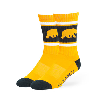 UC Berkeley Cal Men's Socks 47 Brand - Gold