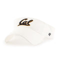 U.C. Berkeley Cal embroidered visor-White