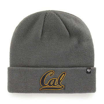U.C. Berkeley Cal Bears cuff knit beanie hat-Charcoal