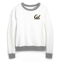 UC Berkeley Cal Women's League Crew-Neck Sweatshirt-White-Shop College Wear