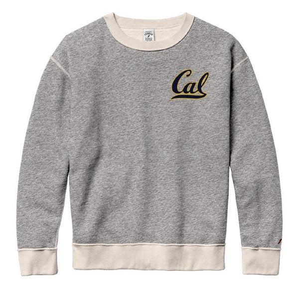 UC Berkeley Cal League Women Crewneck Sweatshirt-Gray-Shop College Wear