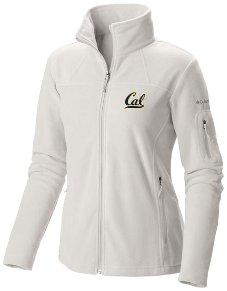 UC Berkeley Cal Embroidered Women's Columbia Polar Fleece Jacket- White-Shop College Wear