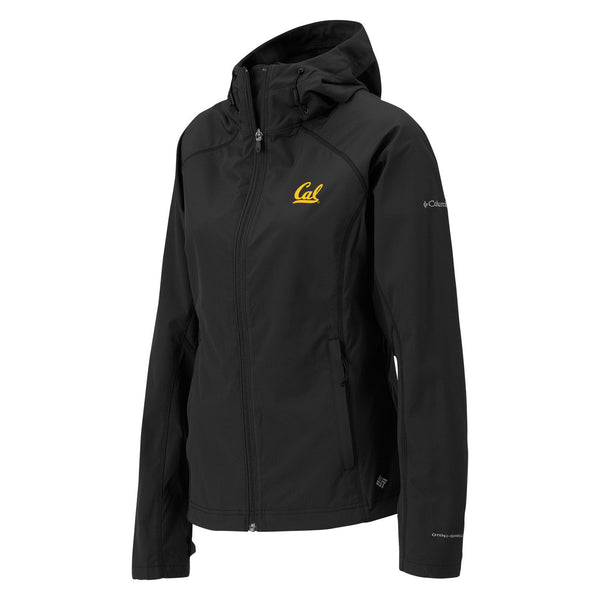 UC Berkeley Cal Embroidered Columbia Women's Soft Shell Jacket- Black-Shop College Wear