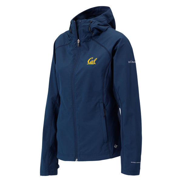 UC Berkeley Cal embroidered Columbia Soft Shell Jacket- Navy-Shop College Wear