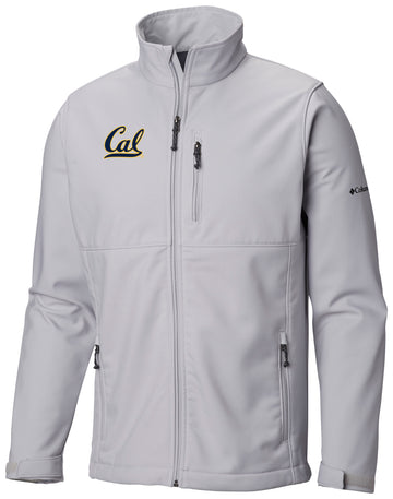 U.C. Berkeley Cal embroidered  Ascender softshell Jacket-Gray