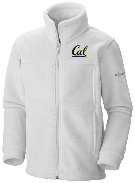 UC Berkeley Cal Embroidered Columbia Youth Jacket-White-Shop College Wear