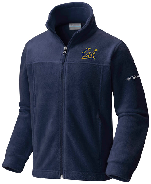 UC Berkeley Cal Embroidered Columbia Youth Flanker Jacket - Navy-Shop College Wear