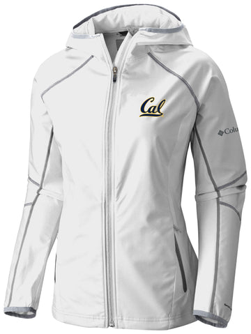UC Berkeley Cal Embroidered Columbia Women's Softshell Jacket-White