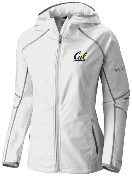 UC Berkeley Cal Embroidered Columbia Women's Softshell Jacket-White-Shop College Wear