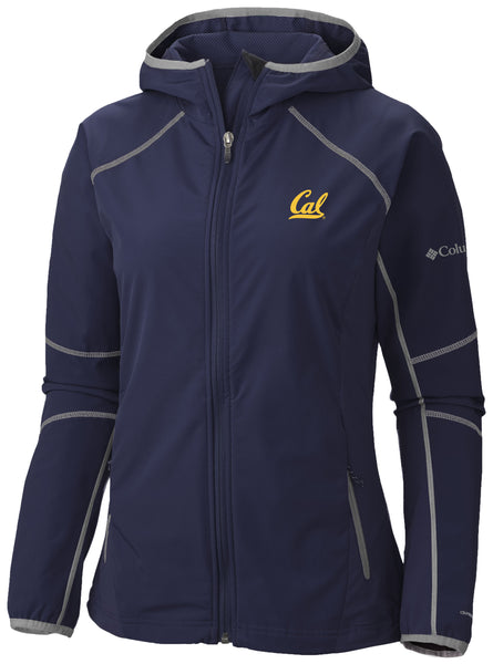 UC Berkeley Cal Embroidered Columbia Women's Soft Shell Jacket- Navy-Shop College Wear